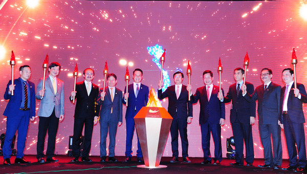 The rite of firing enthusiasm of the Vietnam Young Entrepreneurs Association