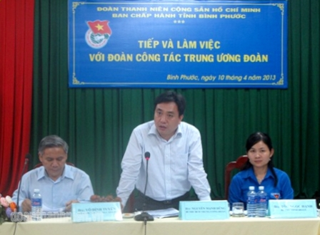 Mr Nguyen Manh Dung – Secretary of HCYU have a speech at the meeting (Photo by HCYU).