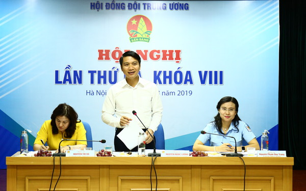 Mr. Nguyen Ngoc Luong, Secretary of the HCYU, Chairman of the Central Council of Ho Chi Minh Young Pioneers spoke at the Conference
