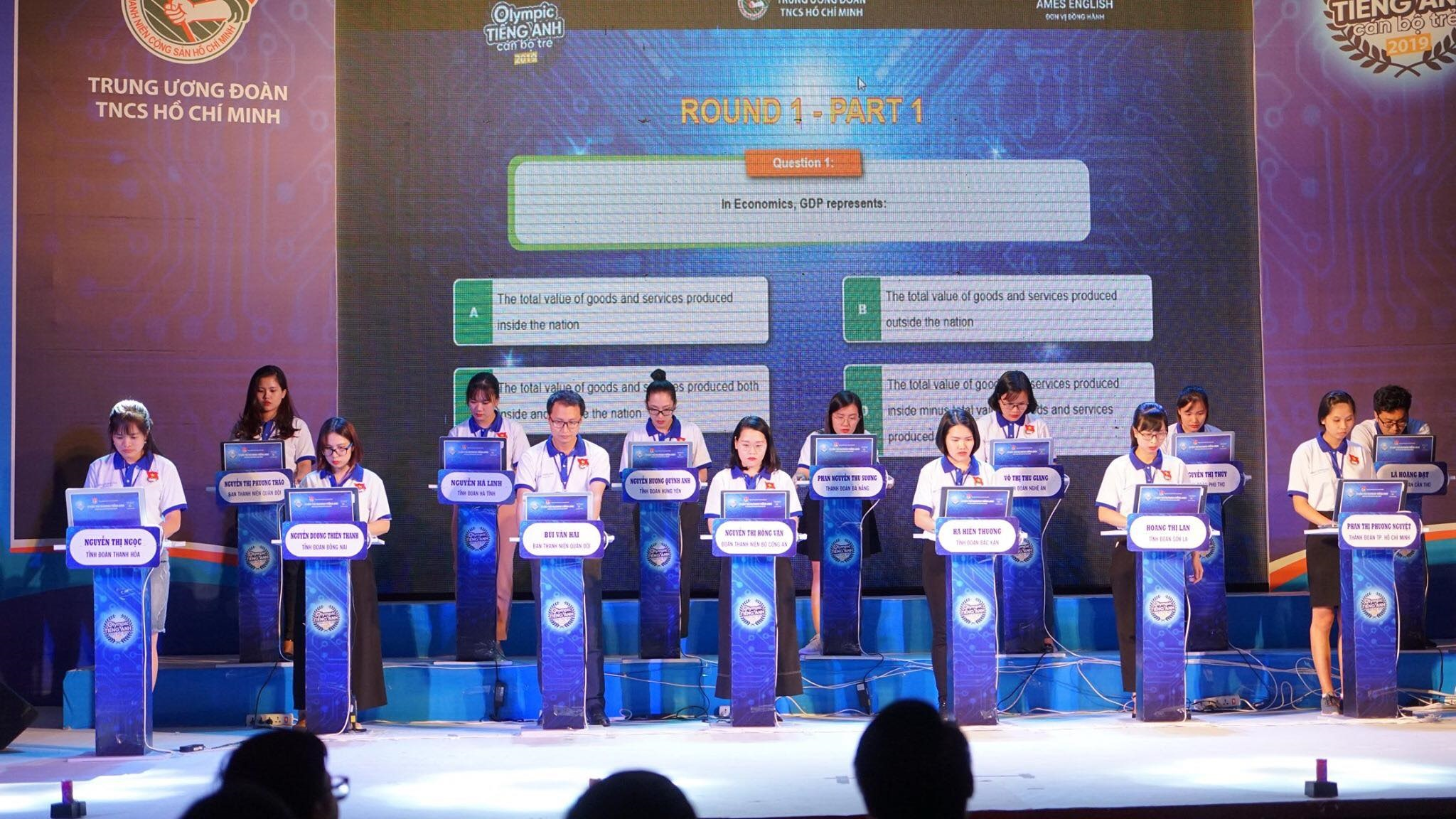 Contestants participated in the final round of the Contest