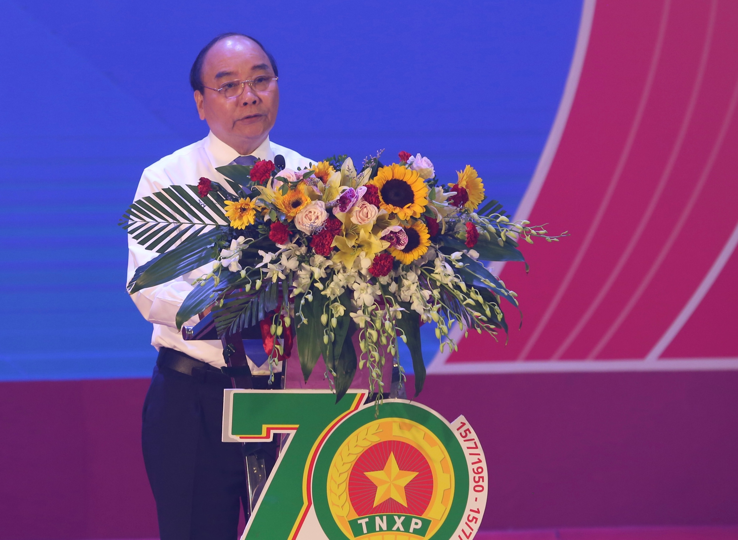 PM. Nguyen Xuan Phuc delivered his speech at the Ceremony
