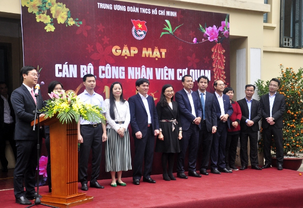 HCYU First Secretary Le Quoc Phong attended the Tết gathering 2018