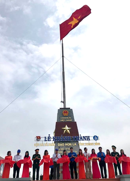 National flagpole inaugurated in Hon La Island