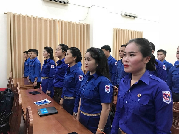 Officials from the Lao People's Revolutionary Youth Union