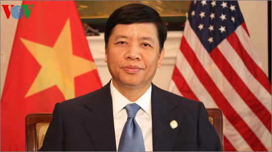 Vietnamese Ambassador to the US Nguyen Quoc Cuong (Image credit: VOV)