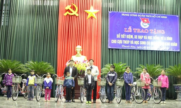 Bicycles delivered to underprivileged students